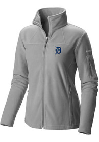 Detroit Tigers Womens Columbia Give and Go Light Weight Jacket - Grey