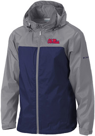 Ole Miss Rebels Columbia Glennaker Lake II Light Weight Jacket - Navy Blue