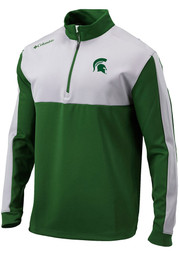 Michigan State Spartans Columbia Waggle 1/4 Zip Pullover - Green
