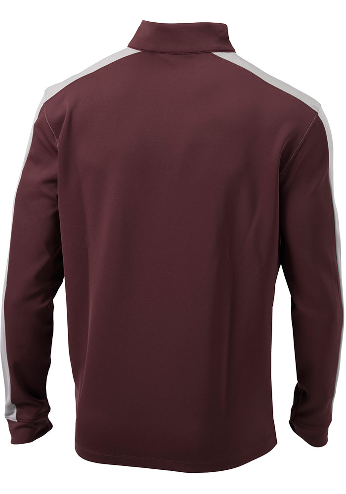 Columbia Texas A&M Aggies Mens Maroon Waggle Long Sleeve 1/4 Zip Pullover - Image 2