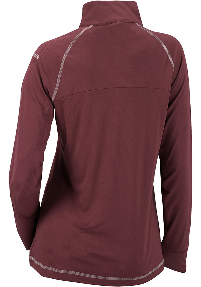 Columbia Texas A&M Aggies Womens Maroon Classic 1/4 Zip Pullover - Image 2