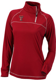Texas Tech Red Raiders Womens Columbia Classic 1/4 Zip Pullover - Red
