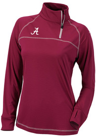Columbia Alabama Crimson Tide Womens Classic Red 1/4 Zip Pullover