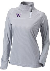 Washington Huskies Womens Columbia Classic 1/4 Zip Pullover - Grey