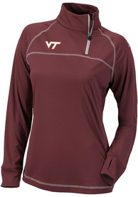 Virginia Tech Hokies Womens Columbia Classic 1/4 Zip Pullover - Maroon