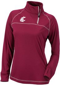 Washington State Cougars Womens Columbia Classic 1/4 Zip Pullover - Red