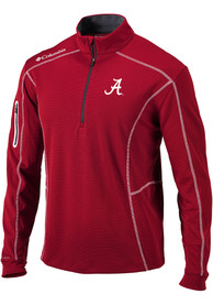 Alabama Crimson Tide Columbia Shotgun 1/4 Zip Pullover - Crimson