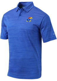 Kansas Jayhawks Columbia Omni-Wick Set Polo Shirt - Blue