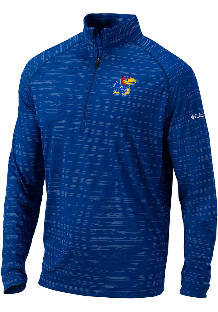 Columbia Kansas Jayhawks Blue Approach 1/4 Zip Pullover