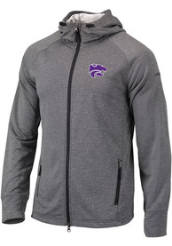 K-State Wildcats Columbia Ace Full Zip Jacket - Charcoal