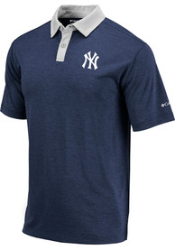 Columbia New York Yankees Navy Blue Omni-Wick Range Short Sleeve Polo Shirt