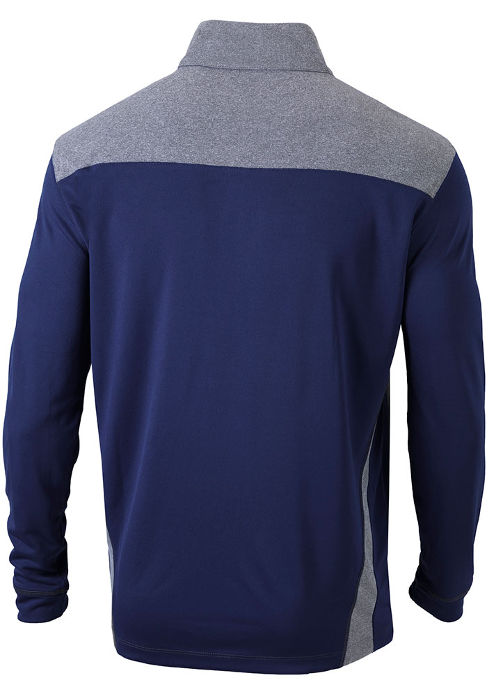 Columbia Atlanta Braves Mens Navy Blue Omni-Wick Standard Long Sleeve 1/4 Zip Pullover - Image 2