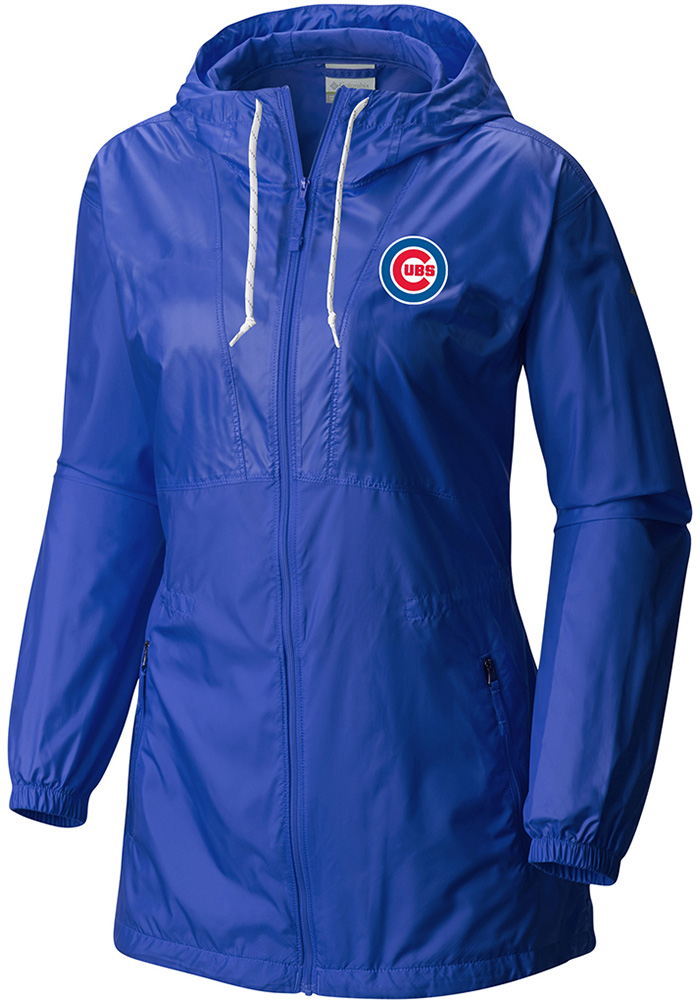 Columbia Chicago Cubs Womens Blue Flashback Light Weight Jacket - Image 1