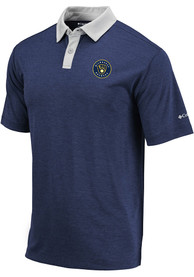 Milwaukee Brewers Columbia Range Polo Shirt - Navy Blue