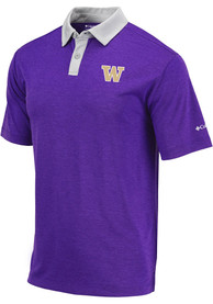 Washington Huskies Columbia Range Polo Shirt - Purple