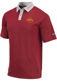 Iowa State Cyclones Columbia Range Polo Shirt - Red