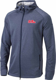 Ole Miss Rebels Columbia Ace Full Zip Jacket - Navy Blue