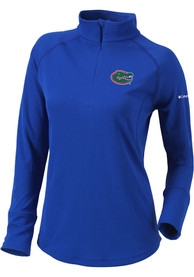 Florida Gators Womens Columbia Flop Shot 1/4 Zip - Blue