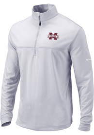 Mississippi State Bulldogs Columbia Soar 1/4 Zip Pullover - Grey