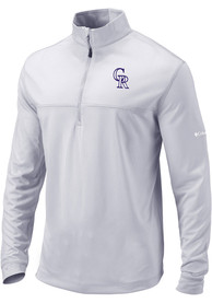 Colorado Rockies Columbia Soar 1/4 Zip Pullover - Grey