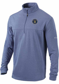 Milwaukee Brewers Columbia Soar 1/4 Zip Pullover - Navy Blue