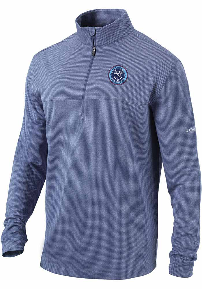 Columbia New York City FC Mens Navy Blue Soar Long Sleeve 1/4 Zip Pullover - Image 1