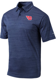 Columbia Dayton Flyers Navy Blue Set Short Sleeve Polo Shirt