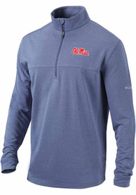 Ole Miss Rebels Columbia Soar 1/4 Zip Pullover - Navy Blue