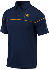 Indiana Pacers Columbia Breaker Polo Shirt - Navy Blue