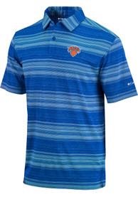 New York Knicks Columbia Slide Polo Shirt - Blue