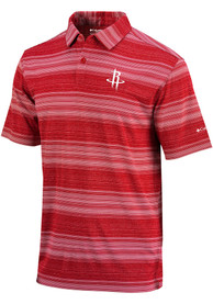 Houston Rockets Columbia Slide Polo Shirt - Red