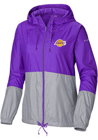 Los Angeles Lakers Womens Columbia Flash Forward Light Weight Jacket - Purple