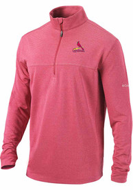 St Louis Cardinals Columbia Soar 1/4 Zip Pullover - Red