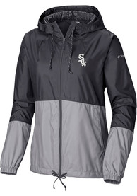 Chicago White Sox Womens Columbia Flash Forward Light Weight Jacket - Black
