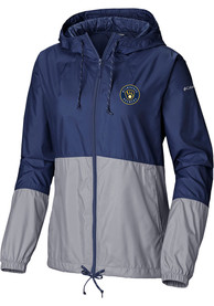 Milwaukee Brewers Womens Columbia Flash Forward Light Weight Jacket - Navy Blue
