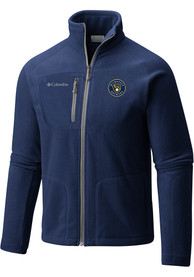 Milwaukee Brewers Columbia Fast Trek II Full Zip Jacket - Navy Blue