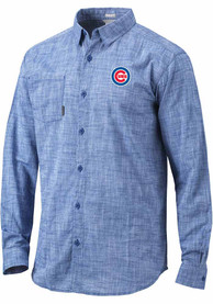 Chicago Cubs Columbia Under Exposure Dress Shirt - Blue