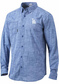 Los Angeles Dodgers Columbia Under Exposure Dress Shirt - Blue