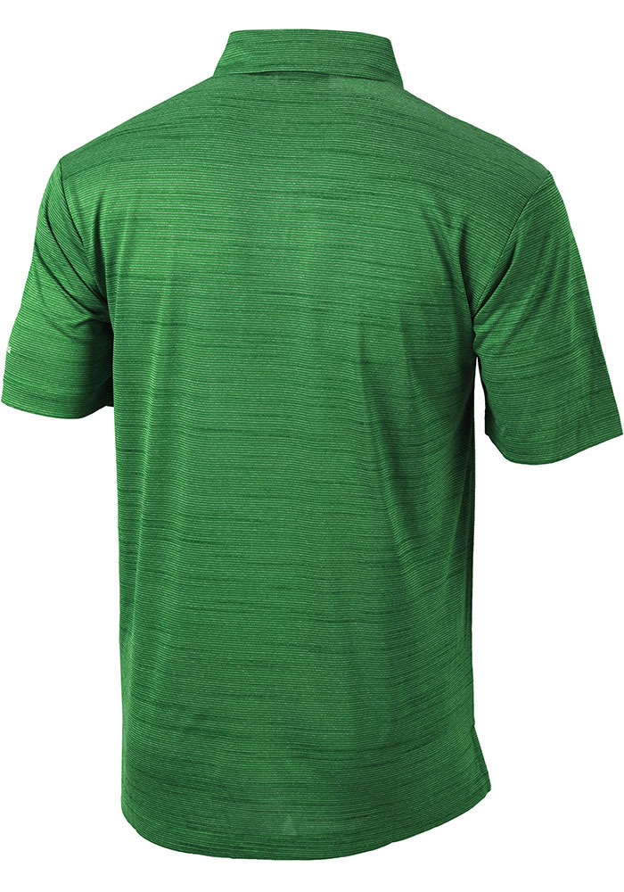 Columbia Michigan State Spartans Mens Green Set Short Sleeve Polo - Image 2