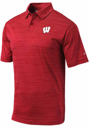 Wisconsin Badgers Columbia Set Polo Shirt - Red