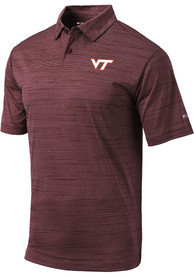 Virginia Tech Hokies Columbia Set Polo Shirt - Maroon
