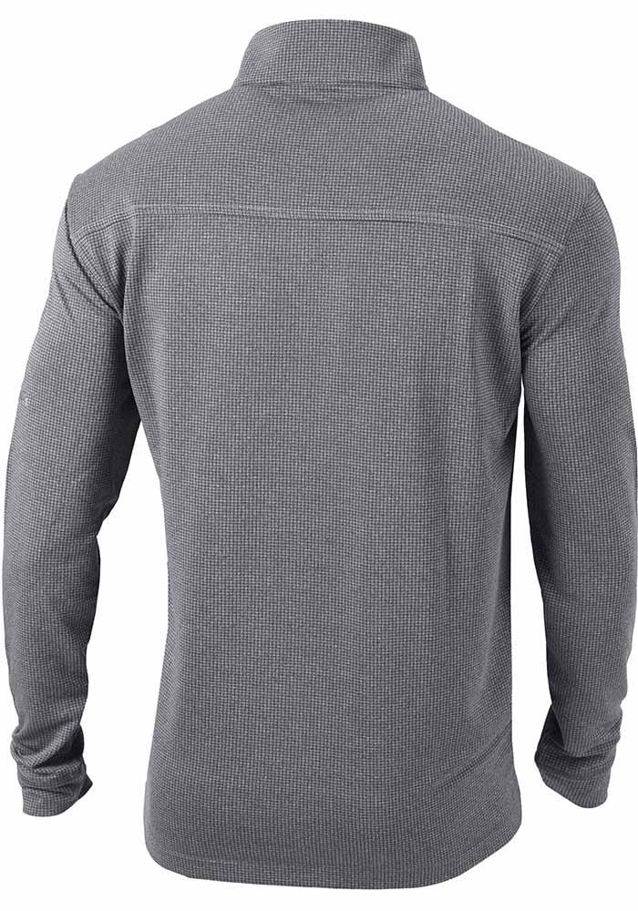Columbia Michigan State Spartans Mens Grey Soar Long Sleeve 1/4 Zip Pullover - Image 2