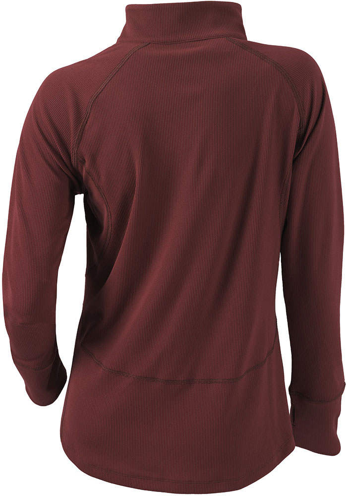 Columbia Texas A&M Womens Maroon Flop Shot 1/4 Zip Pullover - Image 2