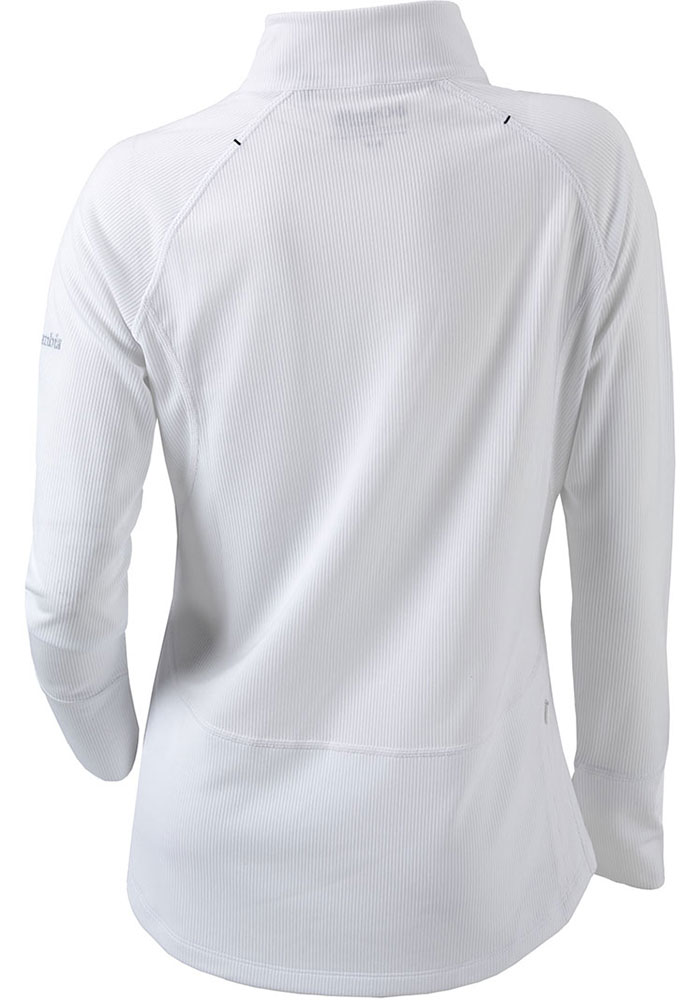 Columbia Hawkeyes Womens White Flop Shot 1/4 Zip Pullover - Image 2