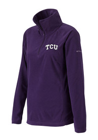 Columbia TCU Horned Frogs Womens Glacial Purple 1/4 Zip Pullover