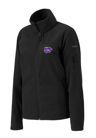 Columbia K-State Wildcats Womens Black Give & Go Light Weight Jacket