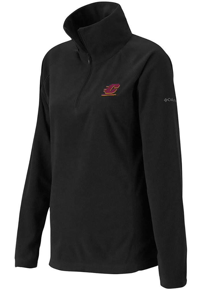 Columbia Central Michigan Chippewas Womens Black Glacial 1/4 Zip Pullover - Image 1