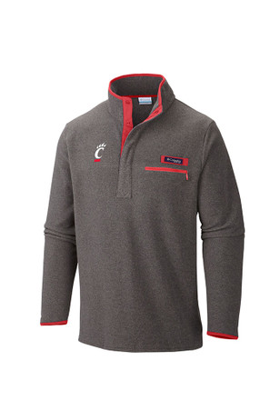 Columbia Cincinnati Mens Grey Harborside 1/4 Zip Pullover