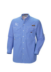 Kansas City Royals Columbia Super Bonehead Dress Shirt - Blue