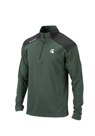 Michigan State Spartans Columbia Top Of Green 1/4 Zip Pullover - Green